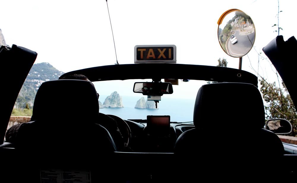 capri taxi view italy driver travel