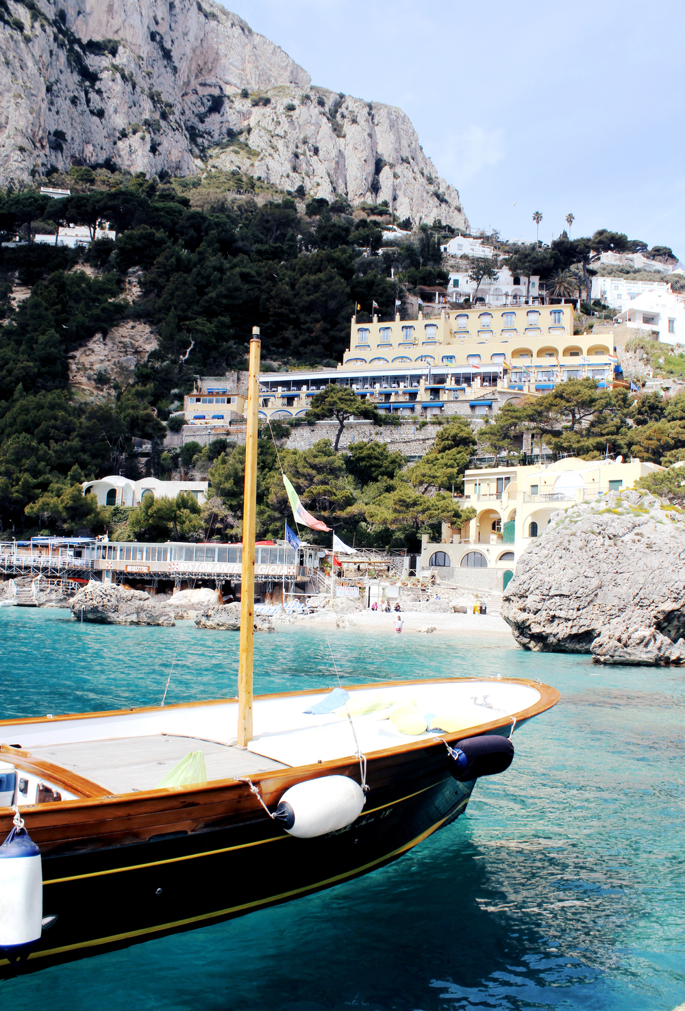 marina piccola capri italy beach boats wave provocateur