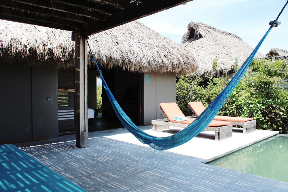 hotel escondido bungalow beach pool hammock mexico wave provocateur