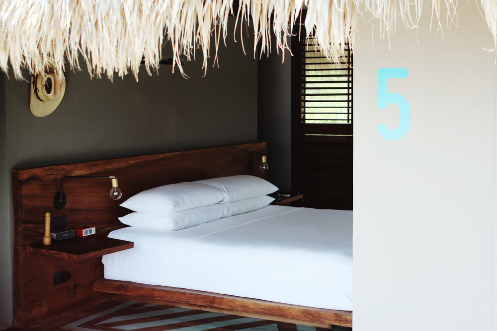 hotel escondido room bed luxury mexico wave provocateur